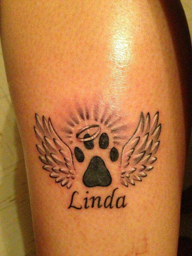 Doing this for spike | Pawprint tattoo, Dog memorial ...
