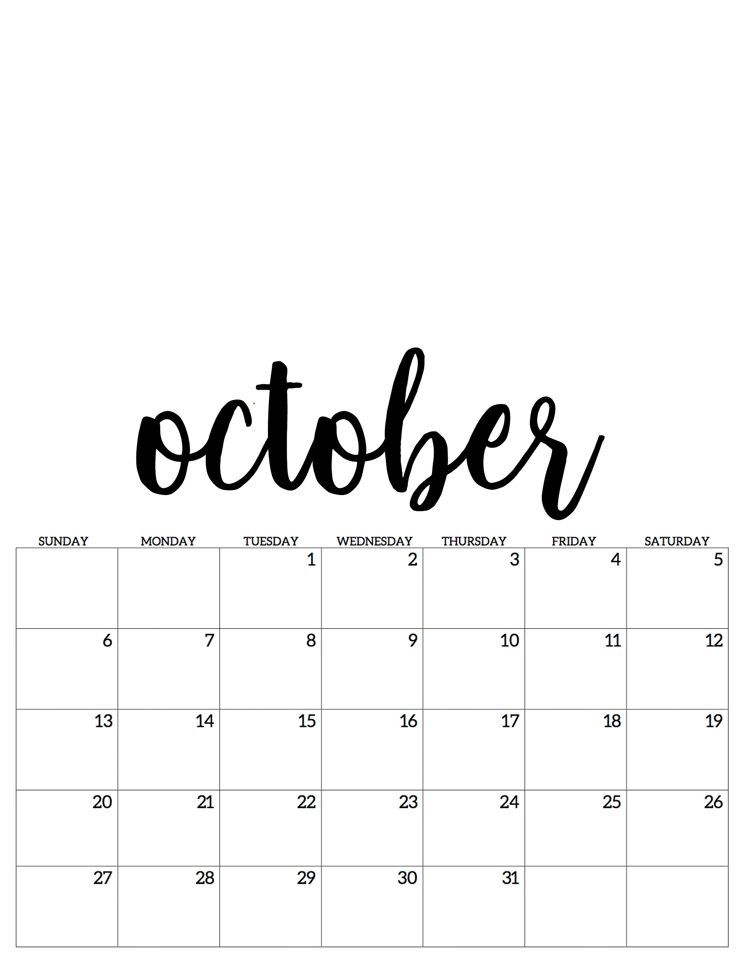 October Oktober Kalender Calendar