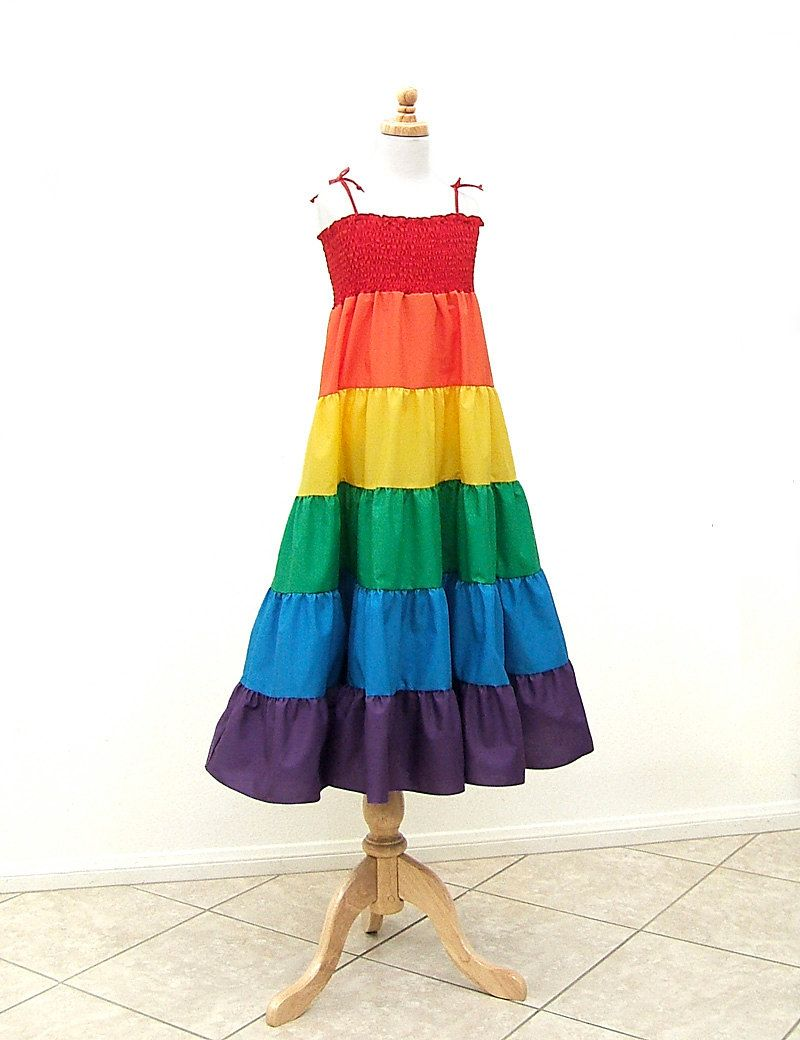 Rainbow Dress, Size Large, Size XL, fits Girls Size 10, 12, 14, 16 ...