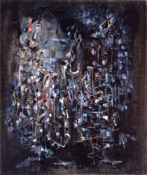 Norman Lewis, Cantata, 1948, oil on canvas. ©THE ESTATE OF NORMAN W. LEWIS/COURTESY MICHAEL ROSENFELD GALLERY LLC, NEW YORK, NEW YORK
