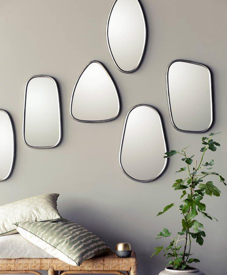 Set Of Three Iron And Black Framed Mirrors   Black framed mirror ...