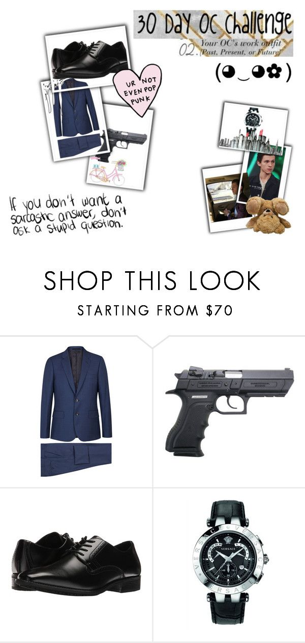 """Cole Todd (day 2)"" by karabear3256 ❤ liked on Polyvore featuring Paul Smith, Stacy Adams and Versace"