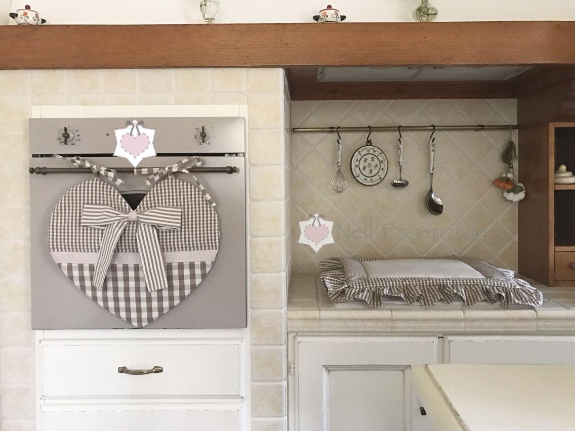 set copriforno a forma di cuore e coprifuochi cucina e