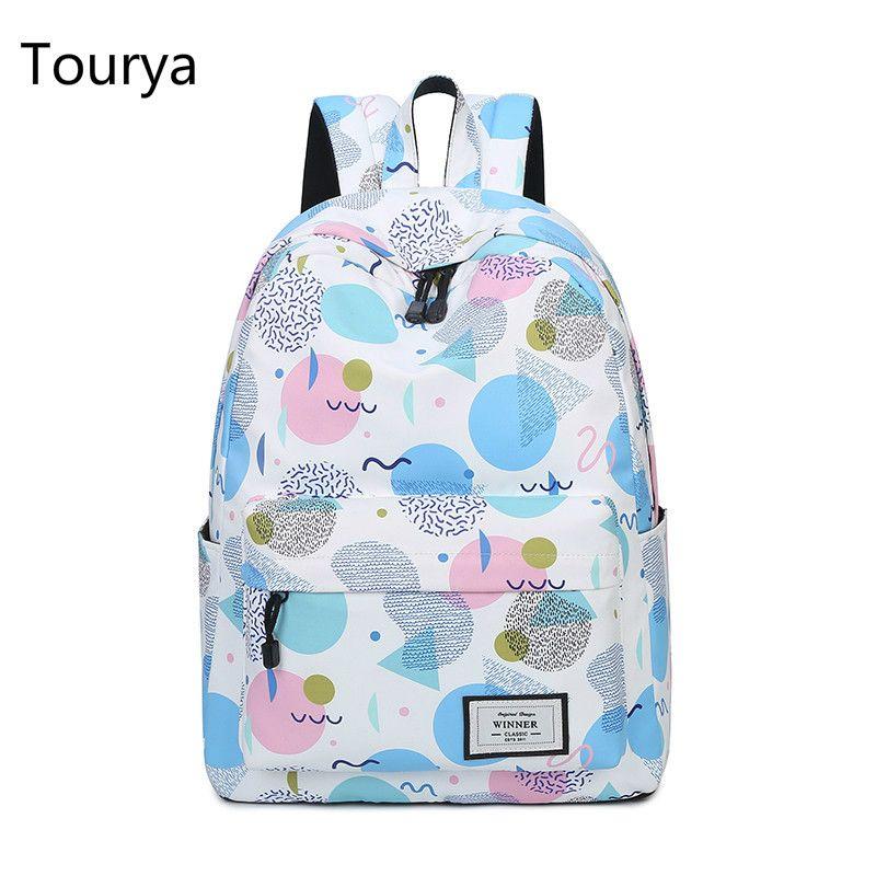 1a64a05fb4a8 Tourya Fashion Women Backpack Printing Shoulder Backpacks School Bags  Bookbag for Teenagers Girls Laptop Travel Mochila