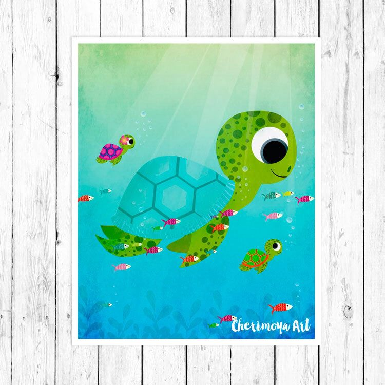 sea turtles wall art nursery print kids room decor children s wall