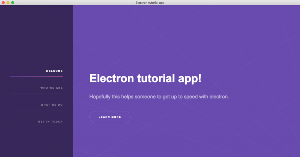 It's time to implement an electron app navigation in the