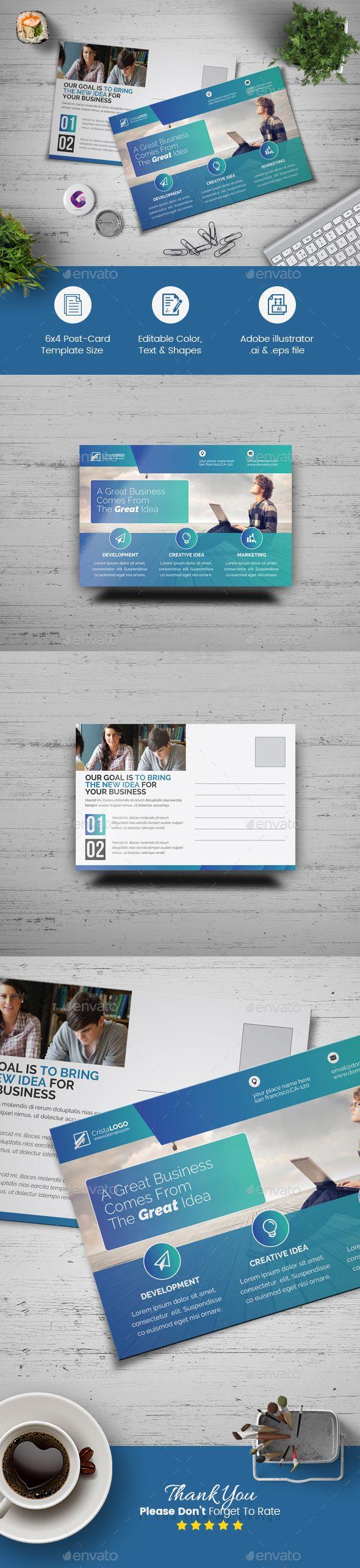 Postcard Template Cards Invites Pinterest Postcard Template