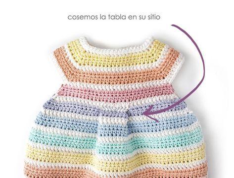 Pelele de Crochet Arcoíris
