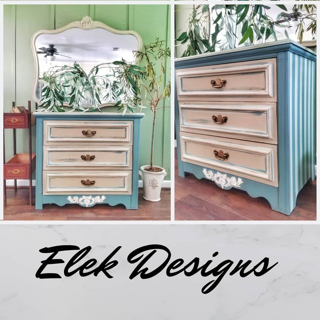 FARMHOUSE MEETS SHABBY CHIC! This striped beauty is all