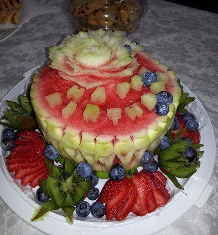 Liana's watermelon birthday cake