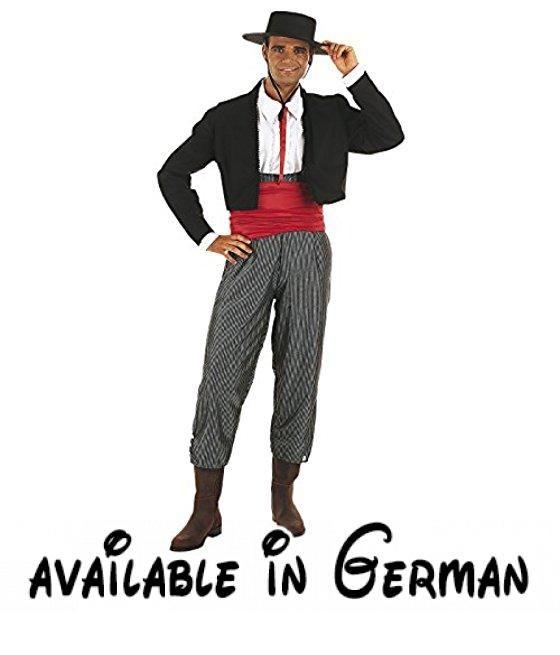 Limit Andalusische Mann Kostüm (X-Large). Optimal für alle UP Party ...