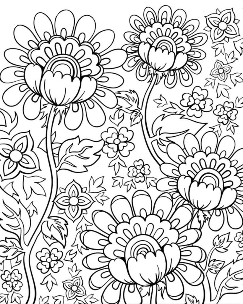 Doodle Coloring Pages Best Coloring Pages For Kids Coloring Pages Coloring Books Flower Coloring Pages