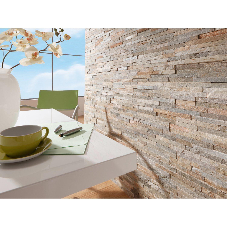 Natursteinverblender Beige 10 Cm X 40 Cm Kaufen Bei Obi Verblender Steintapete Tapeten