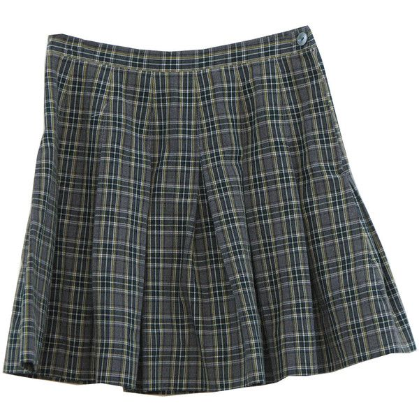 7add972a068e Retro 80's Plaid Mini Skirt: 80s -Vicki Marsh Uniforms- Womens grey,...  (320 ZAR) ❤ liked on Polyvore
