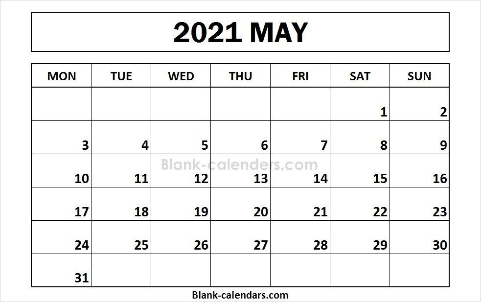 Printable May 2021 Calendar Monday Start In 2020 2021 Calendar Calendar 2020 Calendar Template