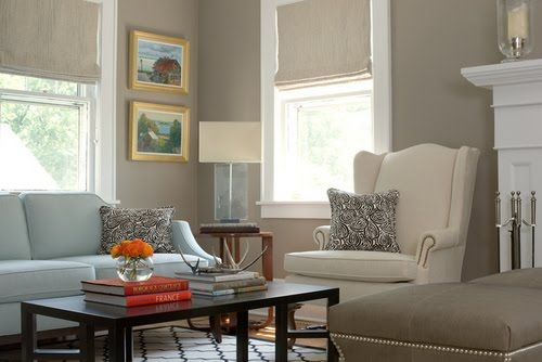 Taupe gray mix what i am considering for my livingroom for Red and taupe living room ideas