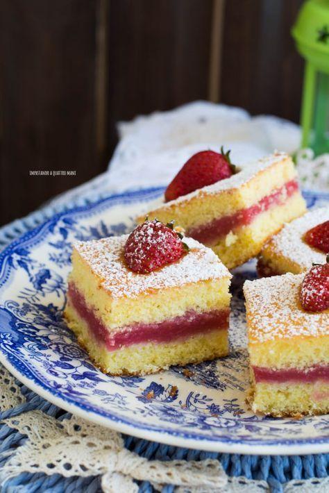 Photo of Creamy lemon and strawberry cake