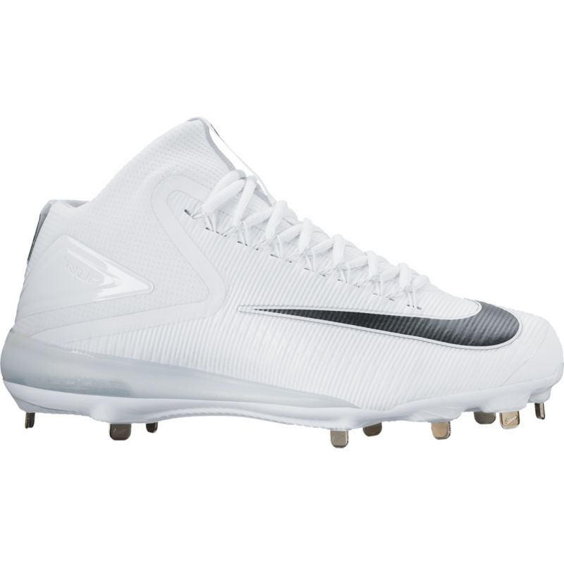 cheaper a584f 59f80 Nike Men s Force Zoom Trout 3 Mid Metal Baseball Cleats, White