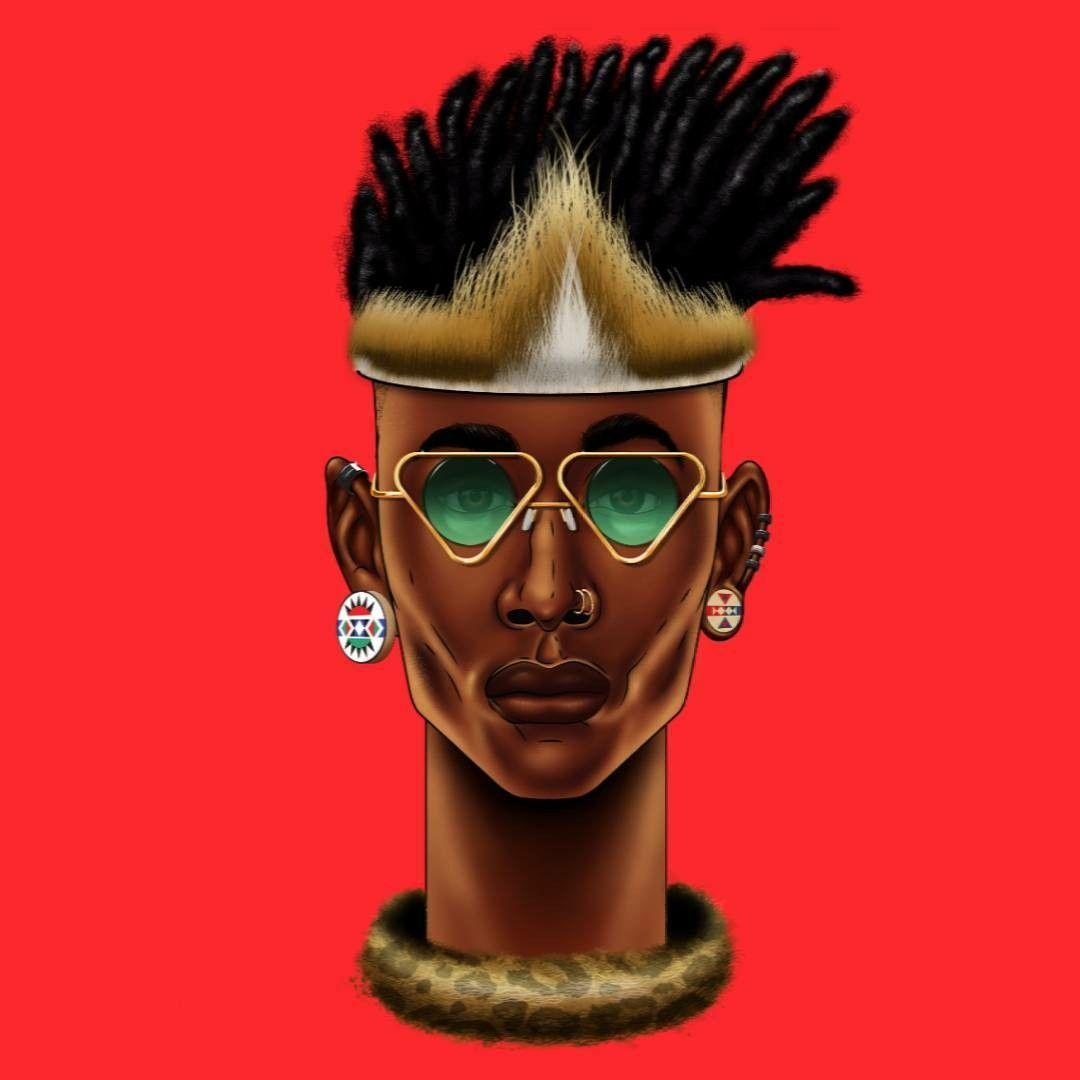 Zulu punk thabiso mbambo nzuri in pinterest art artist
