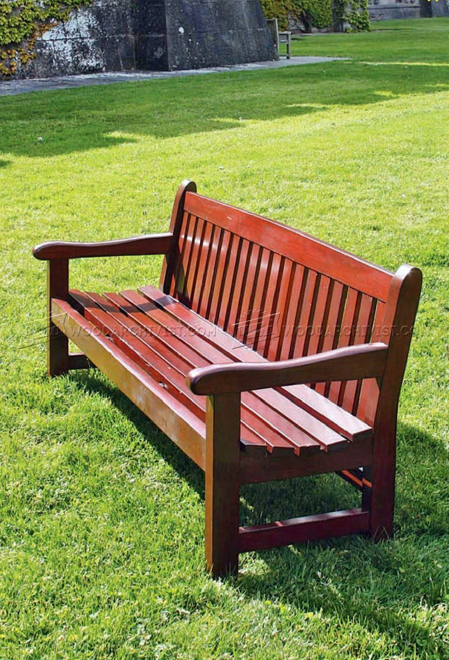 garden bench plans - outdoor furniture plans | only