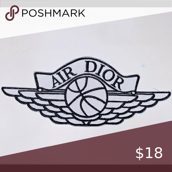 White Air Dior Patch 6 Inch For Iron On Dior Things To Sell Mens Accessories