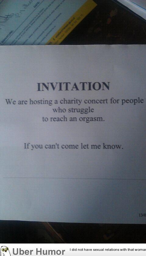 My dad had this invitation…