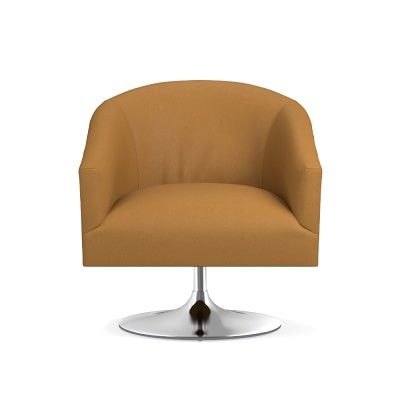 Awesome Palermo Swivel Chair Faux Suede Chestnut Polished Nickel Pabps2019 Chair Design Images Pabps2019Com