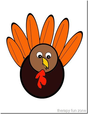 Scissor Cutting Turkey Template  Turkey Template Cuttings And