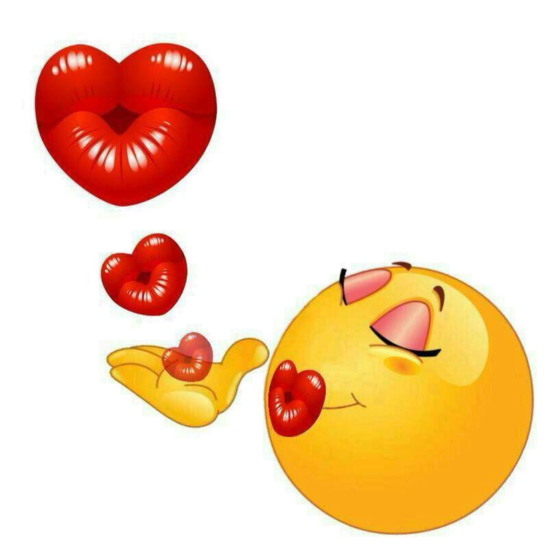 Открытки смайлик поцелуй, картинки прикольные смешные
