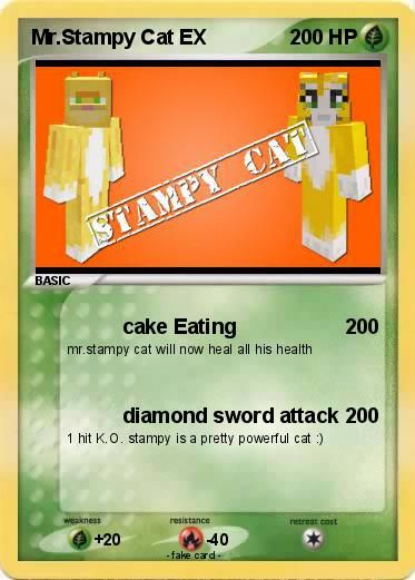 Stampy Mr Stampy Cat Colouring Pages Minecraft Cards