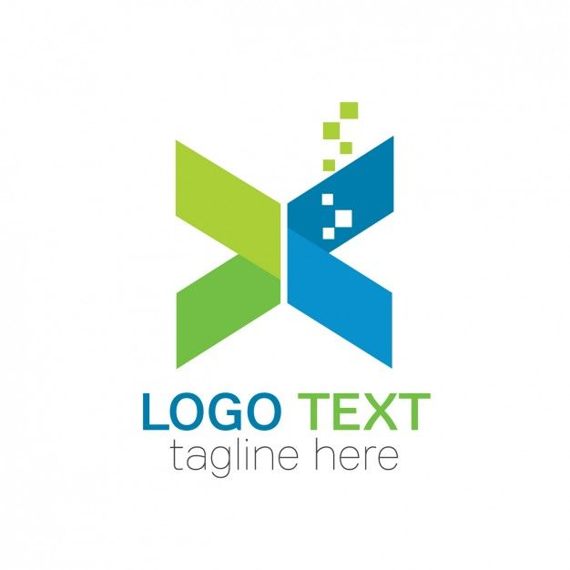 Download Abstract Shape Folded Logo For Free