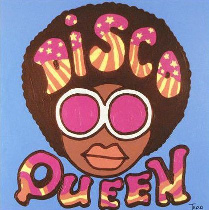 Disco Queen - Limited Edition Giclee on Canvas by Todd Goldman