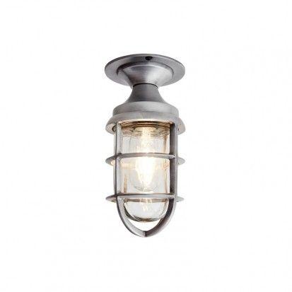 Industville Marine Cage Vintage Semi-Flush Ceiling Light - Antique Patina - Lighting Direct  sc 1 st  Pinterest & Industville Marine Cage Vintage Semi-Flush Ceiling Light - Antique ... azcodes.com