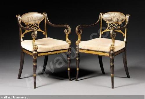 REGENCY STYLEArmchairsSothebyu0027sLondon Regency Style Furniture14