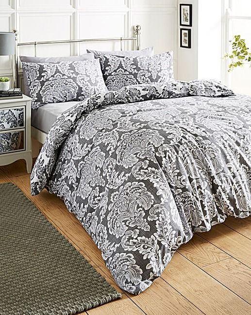 Chatsworth Charcoal Duvet Cover Set House Of Bath