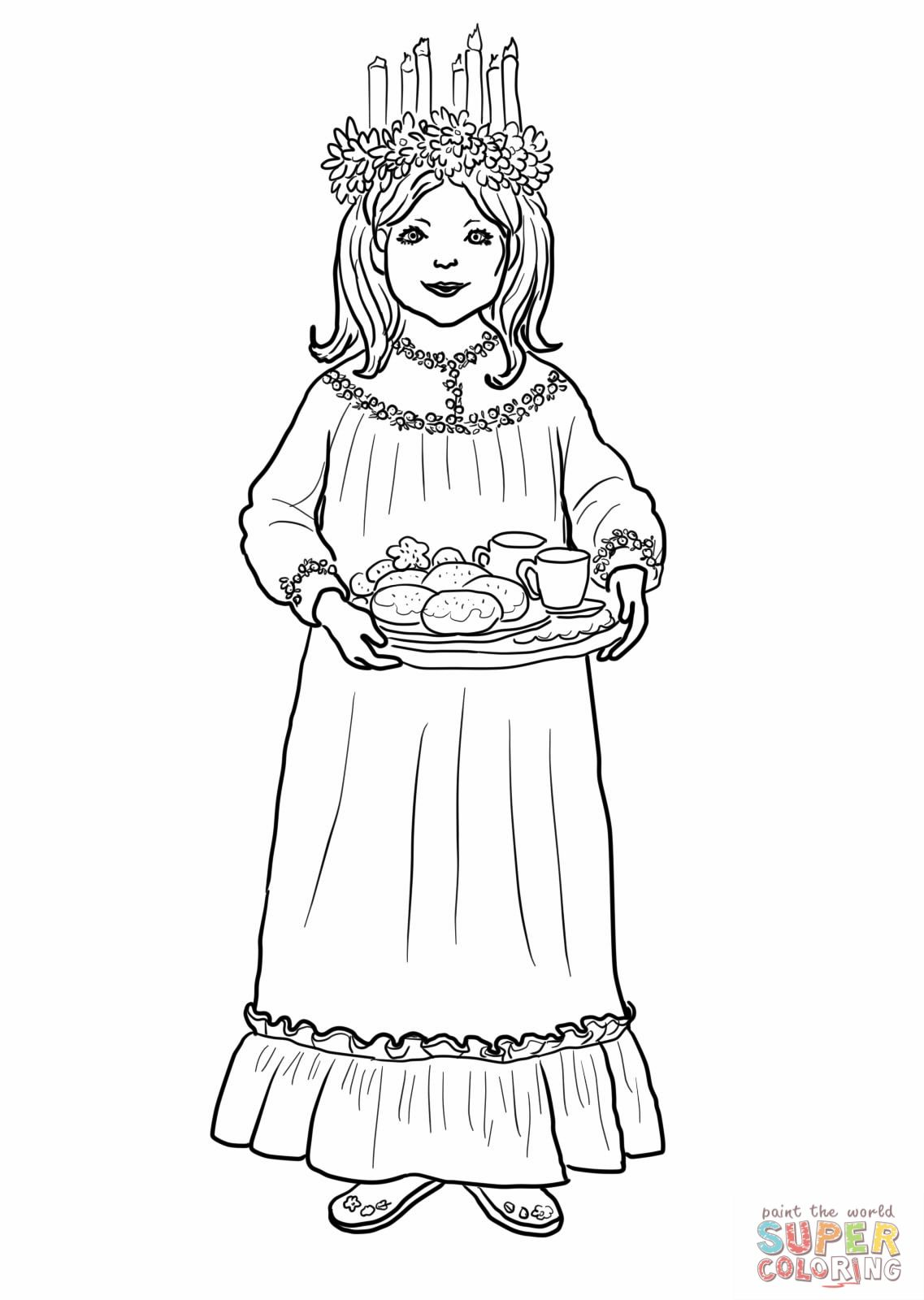 sankta lucia coloring page