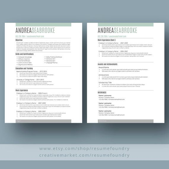 Student Resume Template the Andrea Resume templates Pinterest
