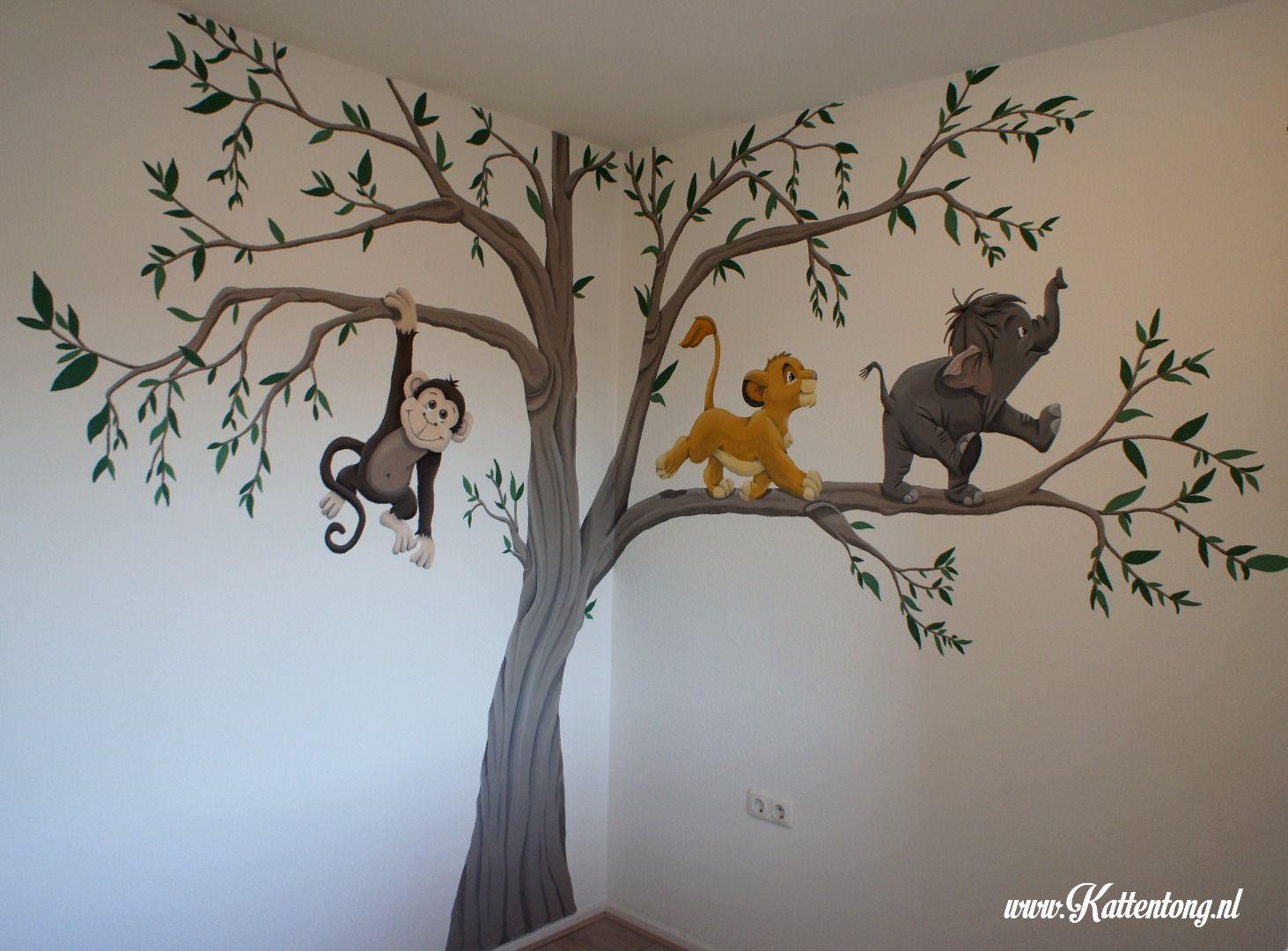 Slaapkamer Met Kunstmuur : Muurschildering babykamer kattentong.nl muurschilderingen
