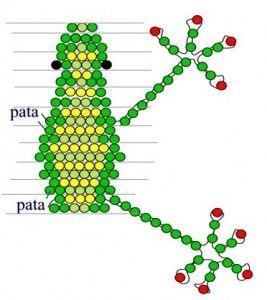 Схемы плетения лягушки