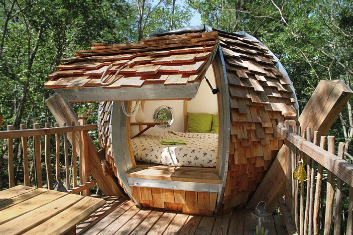 Cabane ronde dans un arbre | Tout simplement Beau | Pinterest ...