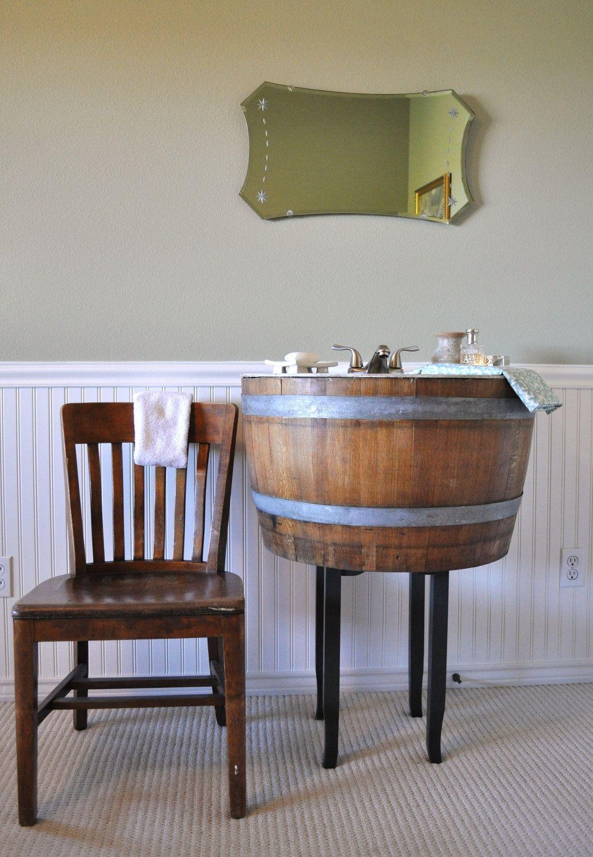 Love This Etsy ShopWineSpirations Want It Wine Barrel Vanity - Wine barrel bathroom vanity for bathroom decor ideas