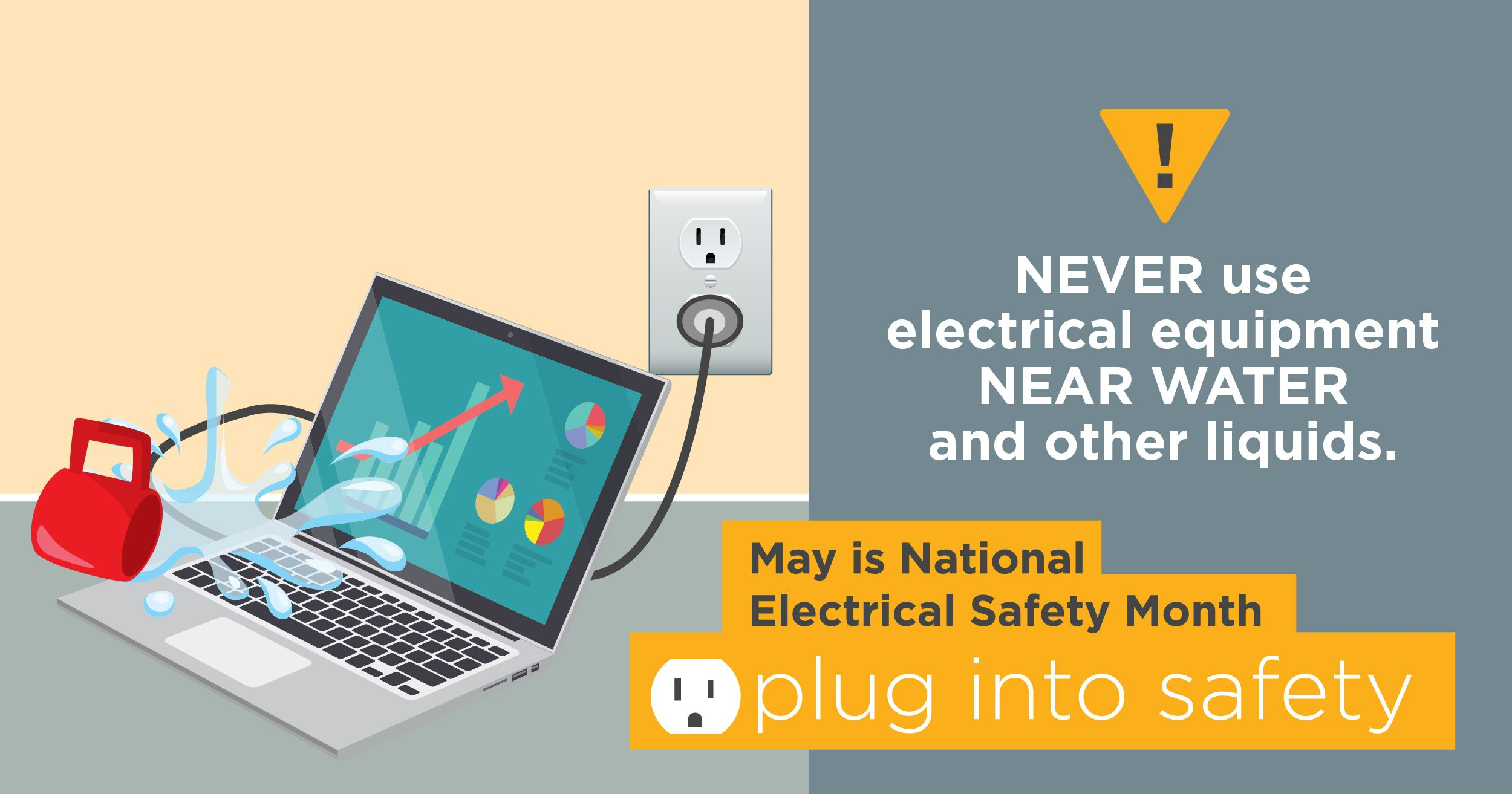 Electrical safety month day 4 be safe having liquids