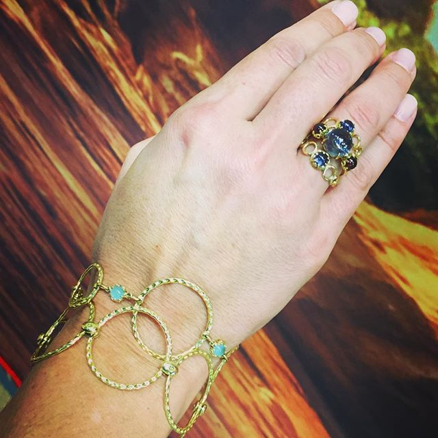 Stacking it on today. #vegasready #jewelry #showtime #gold #love #gems…