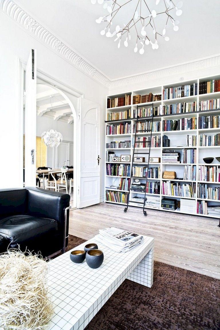 45 Amazing Scandinavian Ideas For Your Home Library Scandinavian Ideas Homelibrary Home Home Library Decor Home Library Design