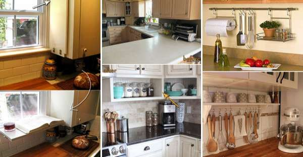 Top 21 Awesome Ideas To Clutter Free Kitchen Countertops · Kitchen  OrganizationKitchen ...