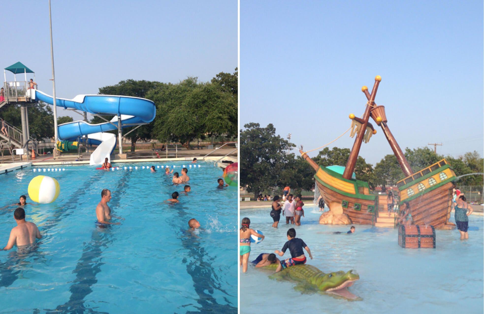 Micki Krebsbach Swimming Pool Pirate Ship Splash Pad Pool Swimming Pools Lap Swimming