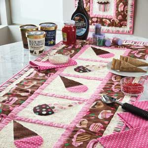 Cake & Ice Cream: Table Runner or Banner Quilt Pattern | templates ... : cupcake quilt patterns - Adamdwight.com