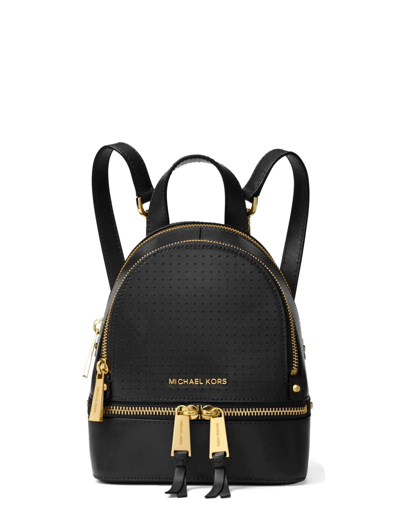 michael michael kors rhea mini perforated leather backpack black rh pinterest com