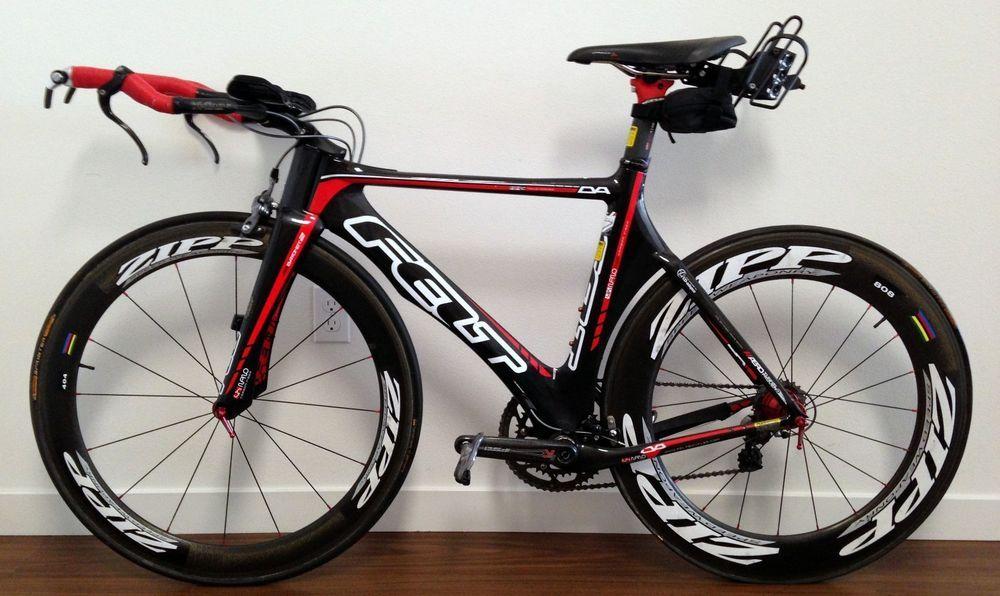 2010 Felt DA 52cm Carbon Triathlon Bike w/ Zipp 808/404