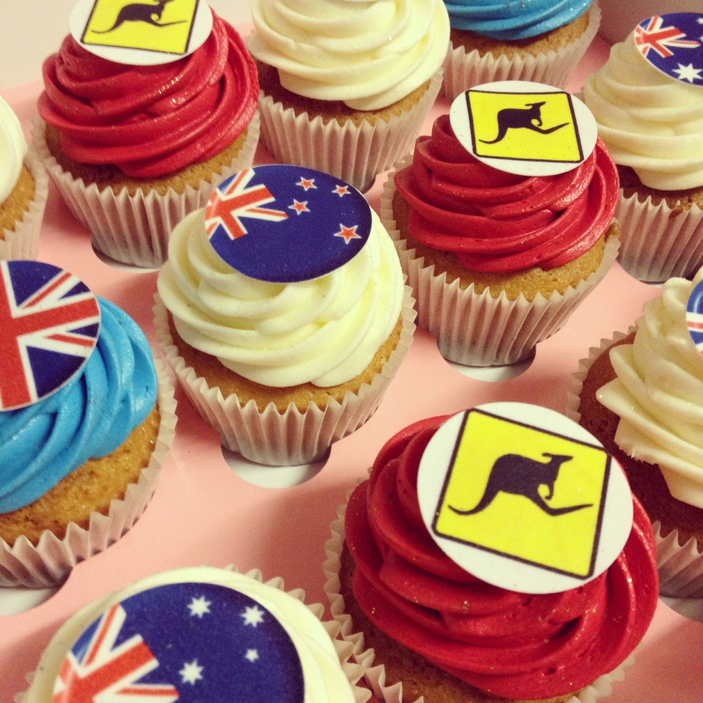 Welcome Home Cupcakes Australia New Zealand and British themed